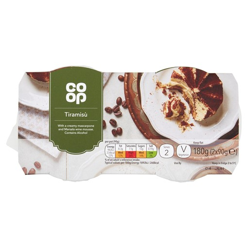 Picture of Co-op Tiramisù 2 x 90g (180g)
