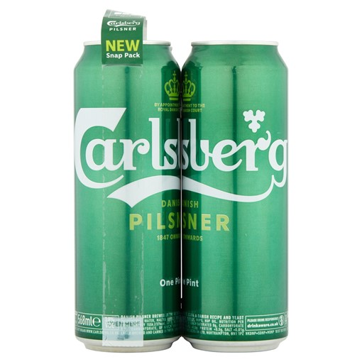Picture of Carlsberg Lager Beer 4 x 568ml