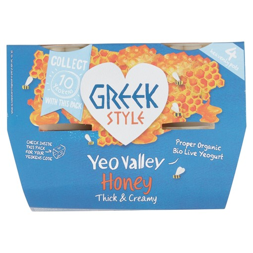 Picture of Yeo Valley Organic Greek Style Honey 4 x 100g (400g)