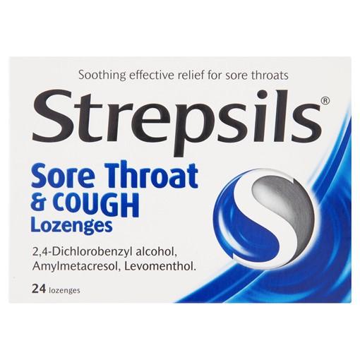 Picture of Strepsils Sore Throat & Cough Lozenges 24 Lozenges