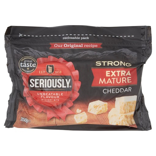 Picture of Seriously Strong Extra Mature Cheddar Cheese 350g