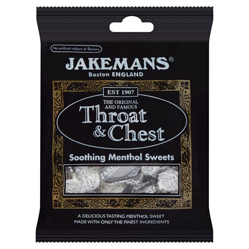 Picture of Jakemans Throat & Chest Soothing Menthol Sweets 100g
