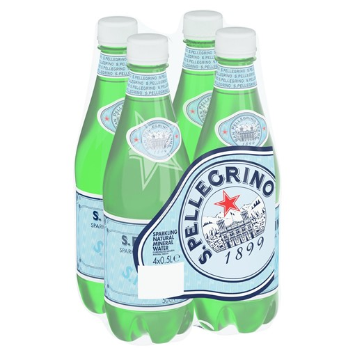 Picture of San Pellegrino Sparkling Natural Mineral Water 4x500ml