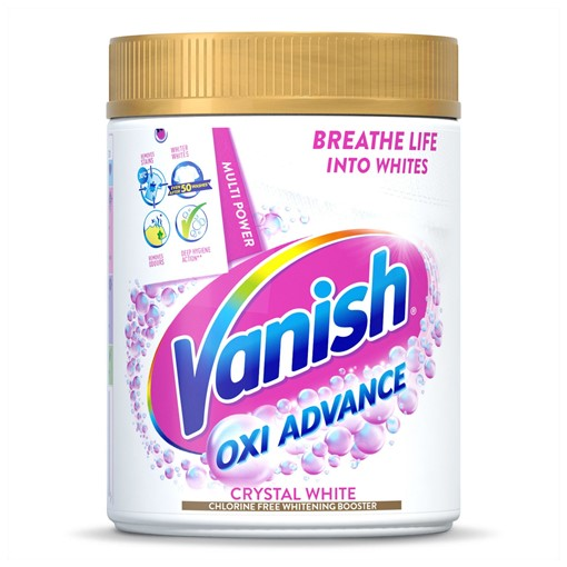 Picture of Vanish Oxi Action Crystal White Powder Fabric Stain Remover + Whitener 470g