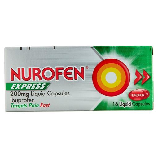 Picture of Nurofen Express 200mg Liquid Capsules 16 Liquid Capsules