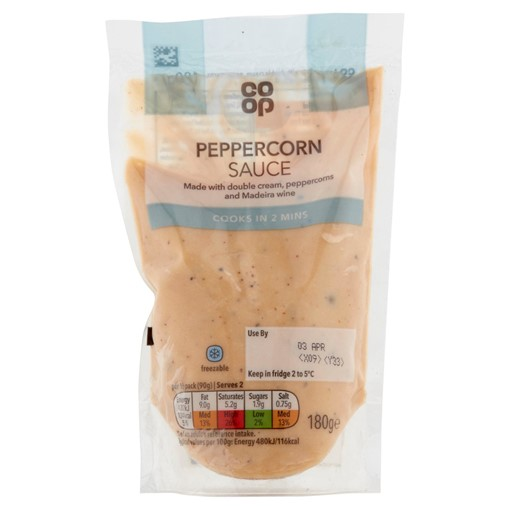 Picture of Co Op Peppercorn Sauce 180g