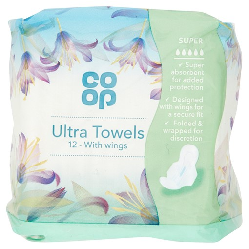 Picture of Co Op 12 Ultra Towels with Wings Super