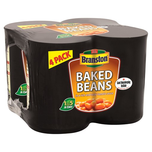 Picture of Branston Baked Beans in a Rich and Tasty Tomato Sauce 4 x 410g