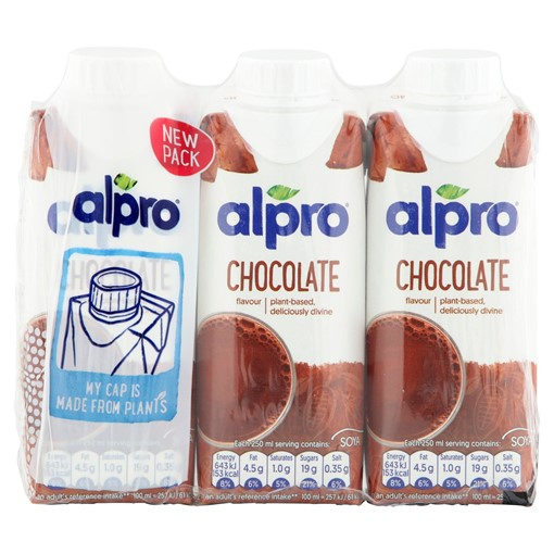 Picture of Alpro Soya Chocolate Long Life Drink 3 x 250ml