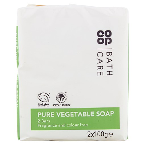 Picture of Co-op Bath Care Pure Bath Soap 2 x 100g