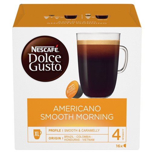 Picture of NESCAFE Dolce Gusto Americano Smooth Morning Coffee Pods 16 Capsules per Box