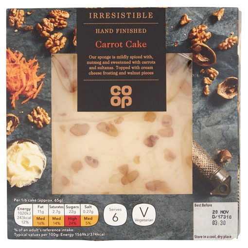 Picture of Co-op Irresistible Hand Finished Carrot Cake