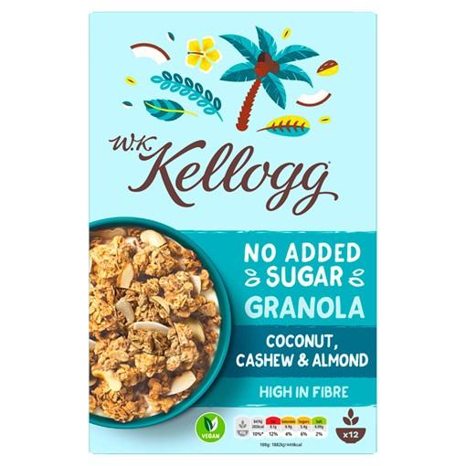 Picture of W.K Kellogg No Added Sugar Coconut, Cashew & Almond Granola 570g