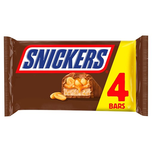 Picture of Snickers Chocolate Bars Multipack 4 x 41.7g