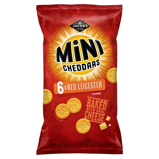 Picture of Jacob's Mini Cheddars Red Leicester Multipack Snacks 6x25g