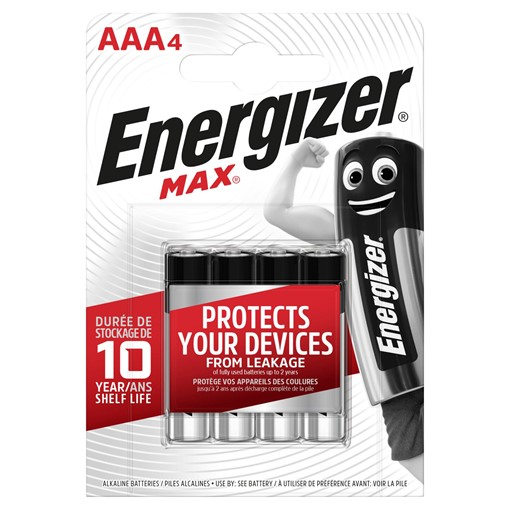 Picture of Energizer Max® Alkaline AAA Batteries 4 Pack