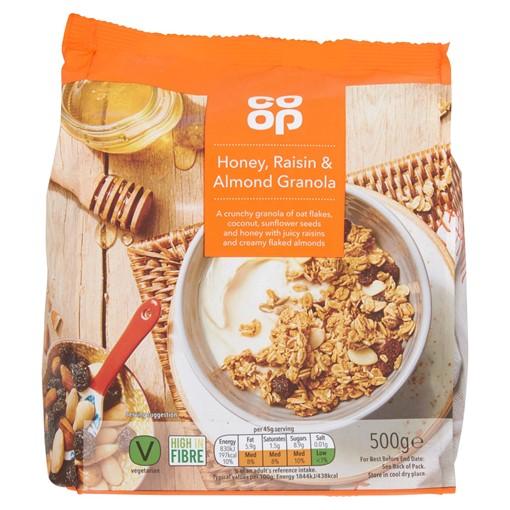 Picture of Co-op Honey, Raisin & Almond Granola 500g