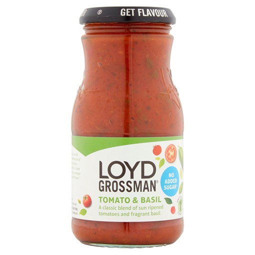 Picture of Loyd Grossman No Added Sugar Tomato & Basil 350g