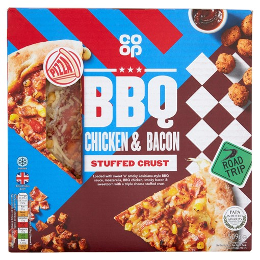 Picture of Co-op BBQ Chicken & Bacon Stuffed Crust 509g
