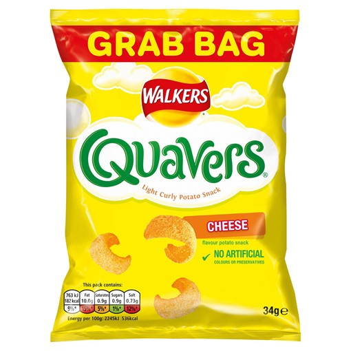 Picture of Walkers Quavers Cheese Snacks 34g