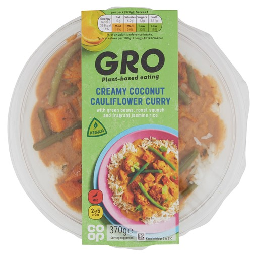 Picture of Co-op GRO Creamy Coconut Cauliflower Curry 370g