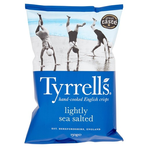 Picture of Tyrrells Lightly Sea Salted Sharing Crisps 150g