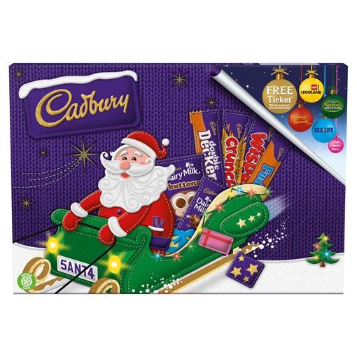 Picture of Cadbury Medium Santa Chocolate Selection Box 153g