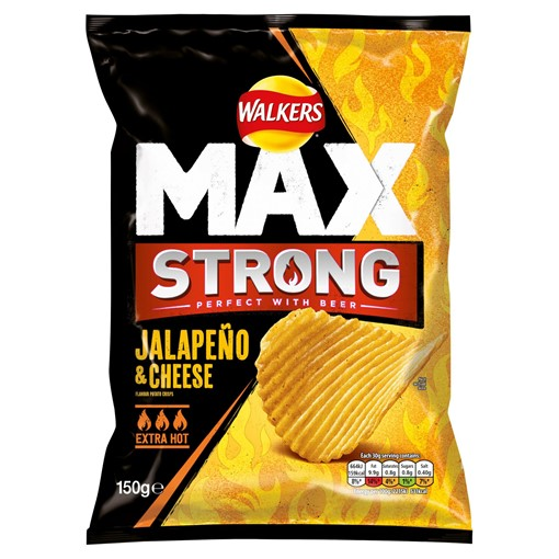 Picture of Walkers Max Strong Jalapeño & Cheese Crisps 150g