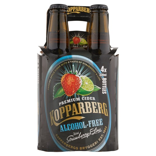 Picture of Kopparberg Premium Cider Alcohol-Free with Strawberry & Lime 4 x 330ml