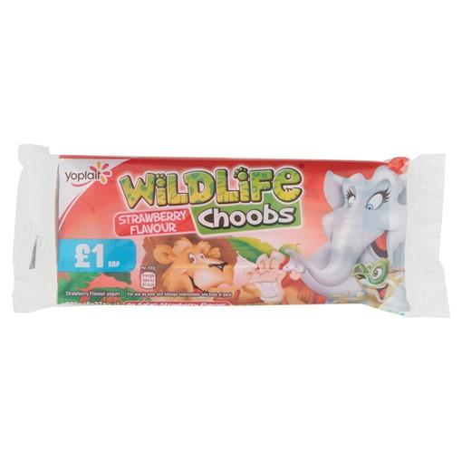 Picture of Wildlife Choobs Strawberry Flavour Yogurt Tubes 6 x 37g