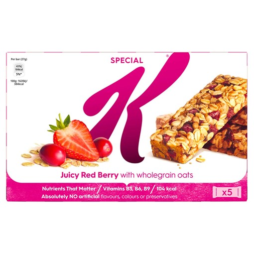 Picture of Kellogg's Special K Bar Juicy Red Berry 5 x 27g
