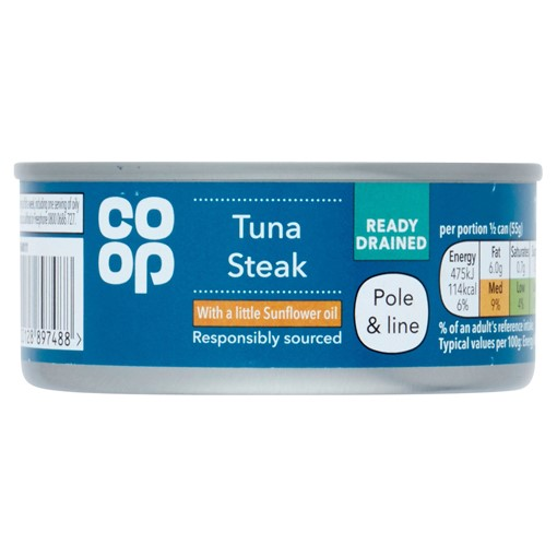 Picture of Co-op Tuna Steak with a Little Sunflower Oil 110g