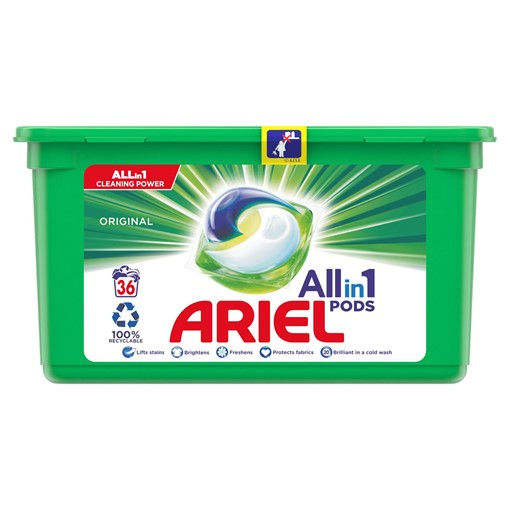 Picture of Ariel 3in1 Pods Original Washing Liquid Capsules 38 Washes