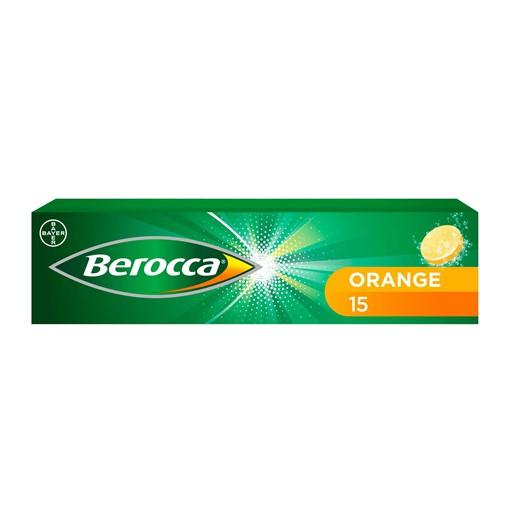 Picture of Berocca Orange Flavour 15 Effervescent Tablets