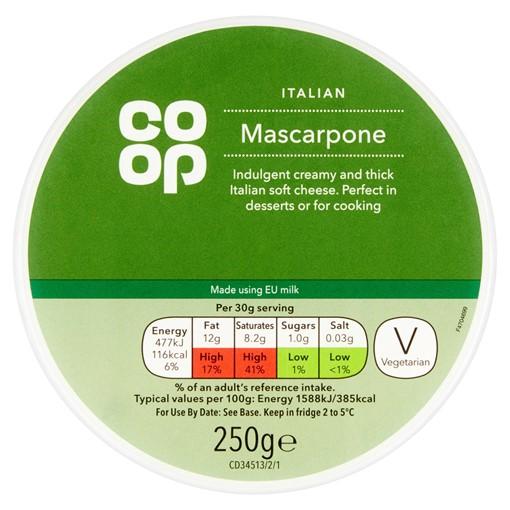 Picture of Co Op Italian Mascarpone 250g