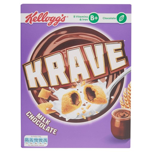 Picture of Kellogg's Krave Milk Chocolate Cereal 375g