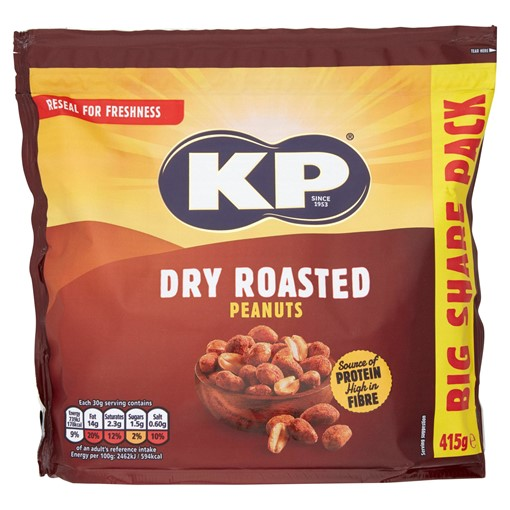 Picture of KP Dry Roasted Peanuts 415g