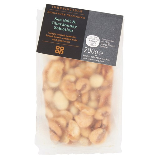 Picture of Co-op Irresistible Sea Salt & Chardonnay Selection 200g