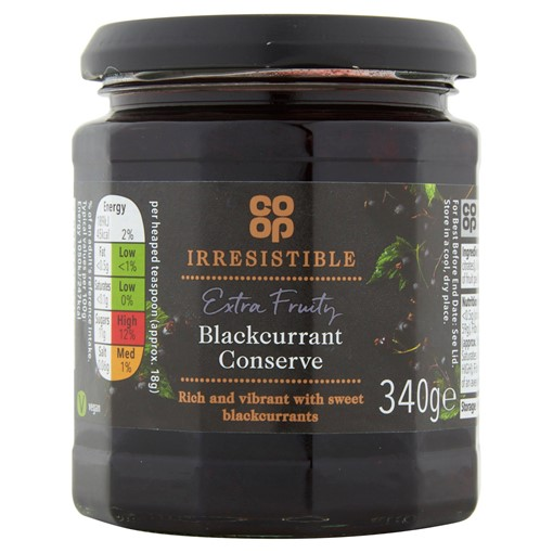 Picture of Co-op Irresistible Blackcurrant Conserve 340g