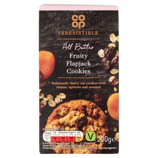 Picture of Co Op Irresistible All Butter Fruity Flapjack Cookies 200g