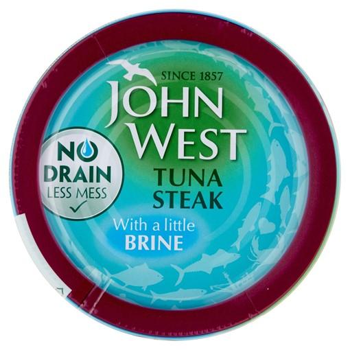 Picture of John West No Drain Tuna Steak with a Little Brine 110g