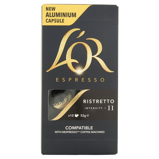 Picture of L'OR Espresso Ristretto Intensity 11 Aluminium Coffee Pods x10
