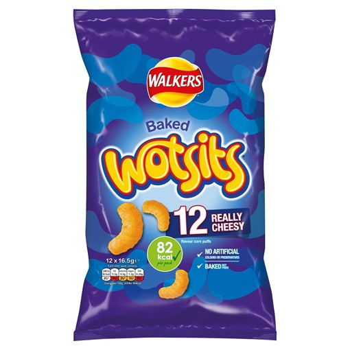 Picture of Walkers Wotsits Really Cheesy Multipack Snacks 12x16.5g