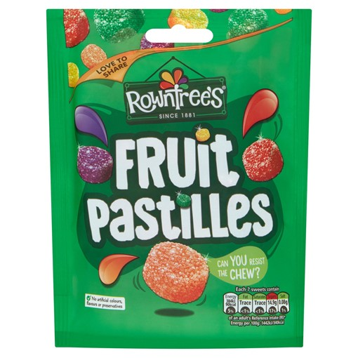 Picture of Rowntree's Fruit Pastilles Vegan Friendly Sweets Sharing Pouch 143g