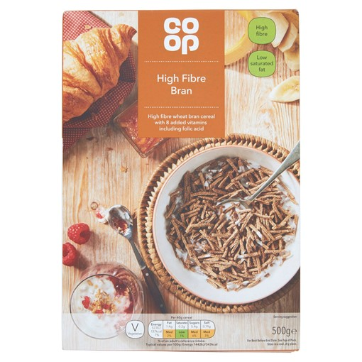 Picture of Co-op High Fibre Bran 500g