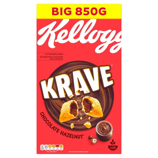 Picture of Kellogg's Krave Chocolate Hazelnut 850g