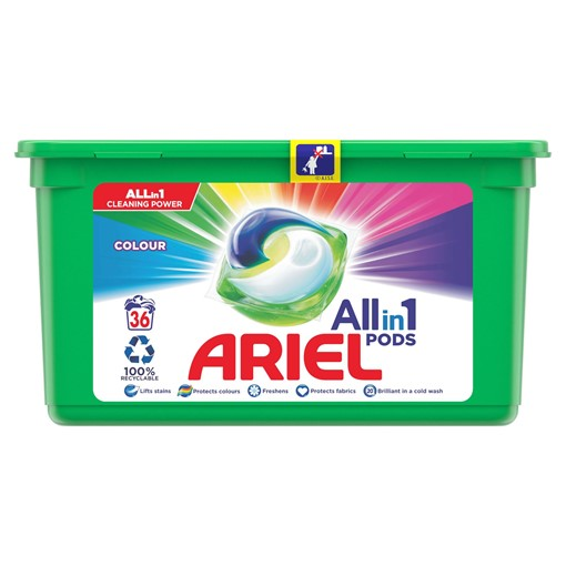 Picture of Ariel 3in1 Pods Colour HD Washing Liquid Capsules 38 Washes