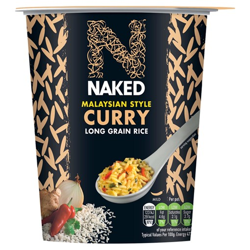Picture of Naked Malaysian Style Curry Long Grain Rice 78g