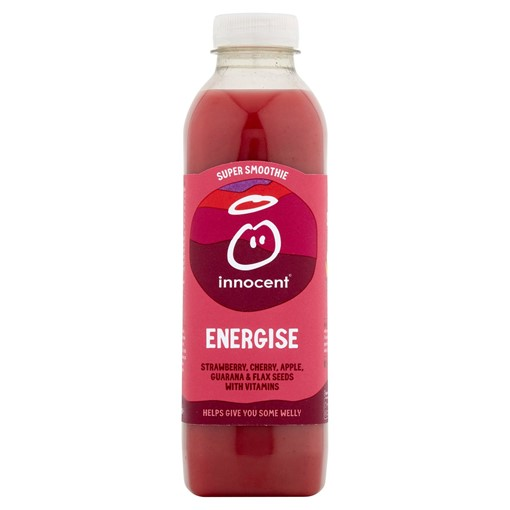 Picture of innocent Super Smoothie Energise, Strawberry & Cherry 750ml