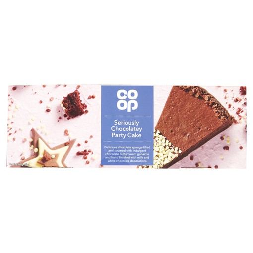 Picture of Co Op Seriously Chocolatey Party Cake